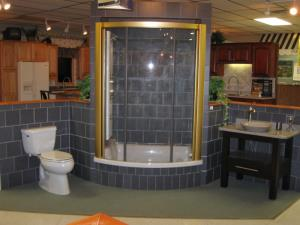 Custom Kohler 8 Jet Body Spa w/ Kohler toilet and Vessel Sink & Bertch Vanity
