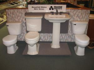 Mansfield Toilets and Pedestal Sink